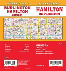 Hamilton / Burlington / Grimsby, Ontario Street Map by GM Johnson