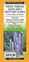 Inside Passage / Haida Gwaii / South East Alaska, British Columbia and Alaska Regional Map by GM Johnson