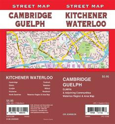 Kitchener / Waterloo / Cambridge / Guelph, Ontario Street Map by GM Johnson