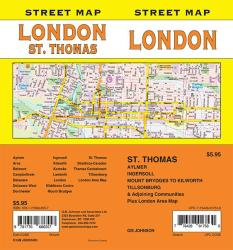 London / St. Thomas, Ontario Street Map by GM Johnson