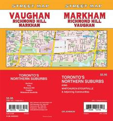 Markham / Vaughan / Richmond Hill, Ontario Street Map by GM Johnson