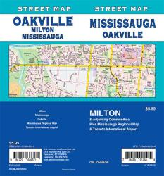 Mississauga / Oakville / Milton, Ontario Street Map by GM Johnson