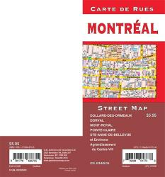 Montreal, Quebec Street Map by GM Johnson