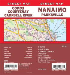 Nanaimo / Parksville / Comox / Courtenay / Campbell River, British Columbia Street Map by GM Johnson