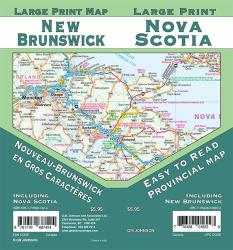 New Brunswick / Nova Scotia Large Print, New Brunswick Province Map by GM Johnson