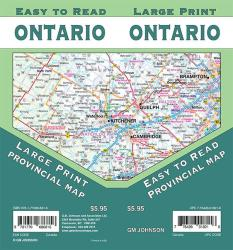 Ontario Large Print, Ontario Province Map by GM Johnson