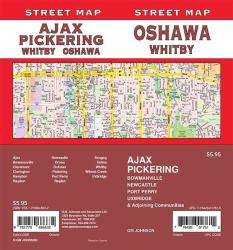Oshawa / Pickering / Whitby / Ajax / Bowmanville, Ontario Street Map by GM Johnson