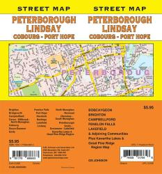 Peterborough / Lindsay / Coburg / Port Hope, Ontario Street Map by GM Johnson