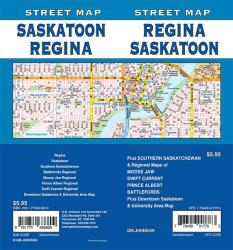 Regina / Saskatoon, Saskatchewan Street Map by GM Johnson