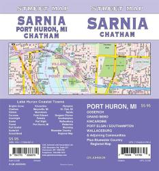 Sarnia / Chatham / Goderich / Port Huron MI, Ontario Street Map by GM Johnson