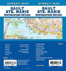 Sault Ste. Marie / North Eastern Ontario, Ontario Street Map by GM Johnson