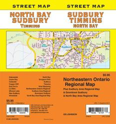 Sudbury / North Bay / Timmins, Ontario Street Map by GM Johnson