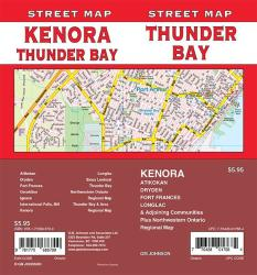 Thunder Bay / Kenora / Fort Frances / Dryden, Ontario Street Map by GM Johnson