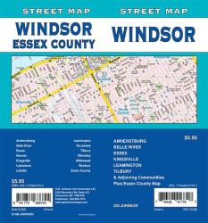 Windsor / Essex County, Ontario Street Map by GM Johnson