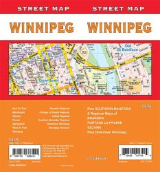 Winnipeg, Manitoba Street Map by GM Johnson