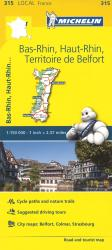 Bas Rhin, Haut Rhin, France (315) by Michelin Maps and Guides