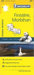 Finistre Morbihan, France (308) by Michelin Maps and Guides