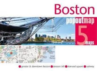 Boston, MA PopOut Map by PopOut Products