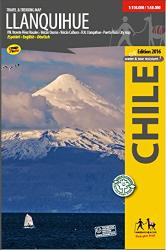 Llanquihue Travel and Trekking Map by Trekking Chile
