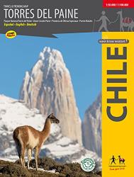 Torres del Paine, Travel & Trekking Map by Trekking Chile