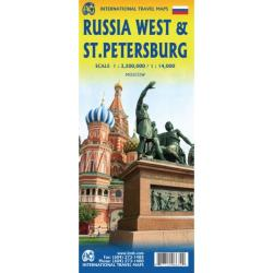 Russia West & St Petersburg Travel Map by ITMB Publishing Ltd