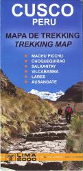 Cusco, Peru, Trekking Map by