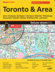 Toronto & Area Deluxe Street Atlas (Large Print) by Canadian Cartographics Corporation