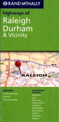 Raleigh, Durham and Vicinity, North Carolina Highways by Rand McNally
