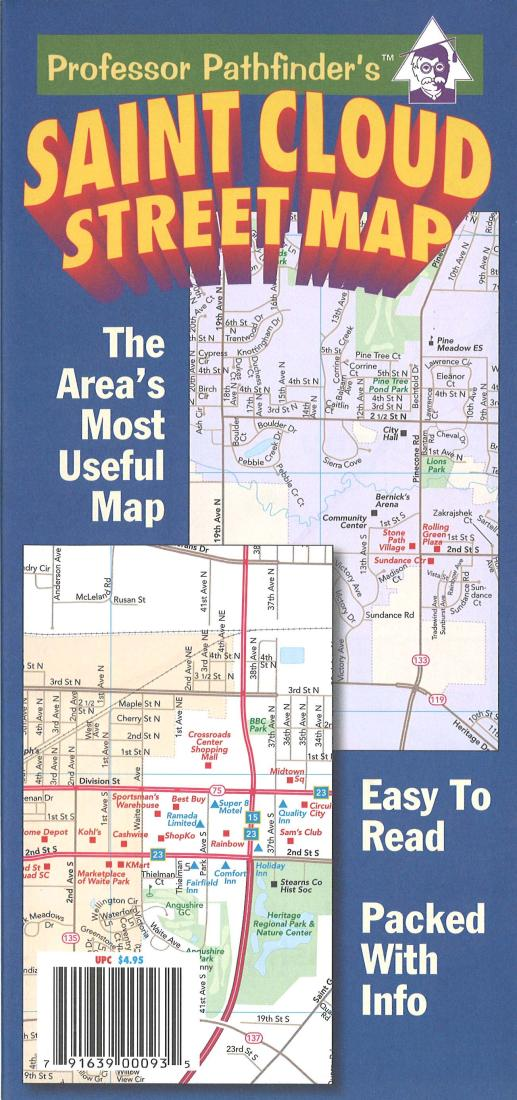 St Cloud Campus Map.St Cloud Minnesota By Hedberg Maps