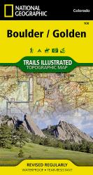 Boulder and Golden, Colorado, Map 100 by National Geographic Maps