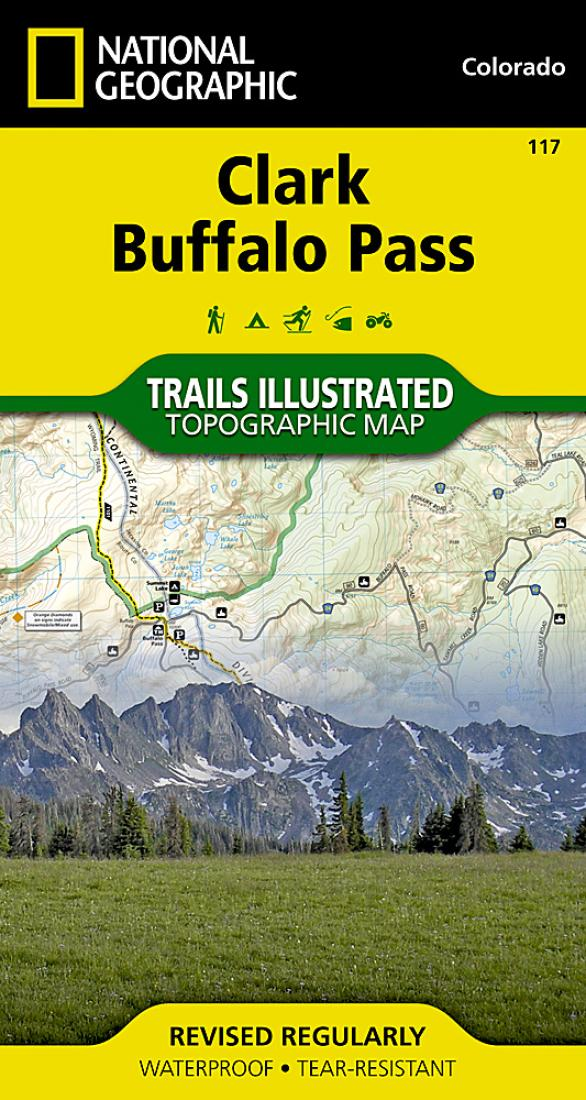 Clark Colorado Map.Clark And Buffalo Pass Colorado Map 117 By National Geographic