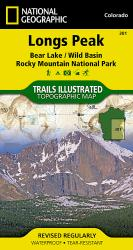 Longs Peak, Bear Lake, Wild Basin Rocky Mountains National Park by National Geographic Maps