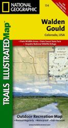 Walden and Gould, Colorado, Map 114 by National Geographic Maps