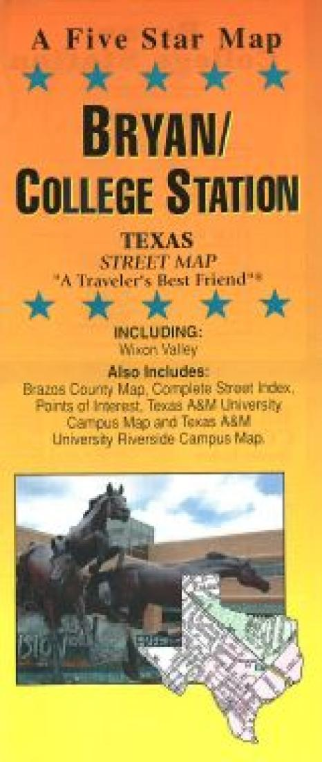 College Station Map Of Texas.Bryan And College Station Texas By Five Star Maps Inc