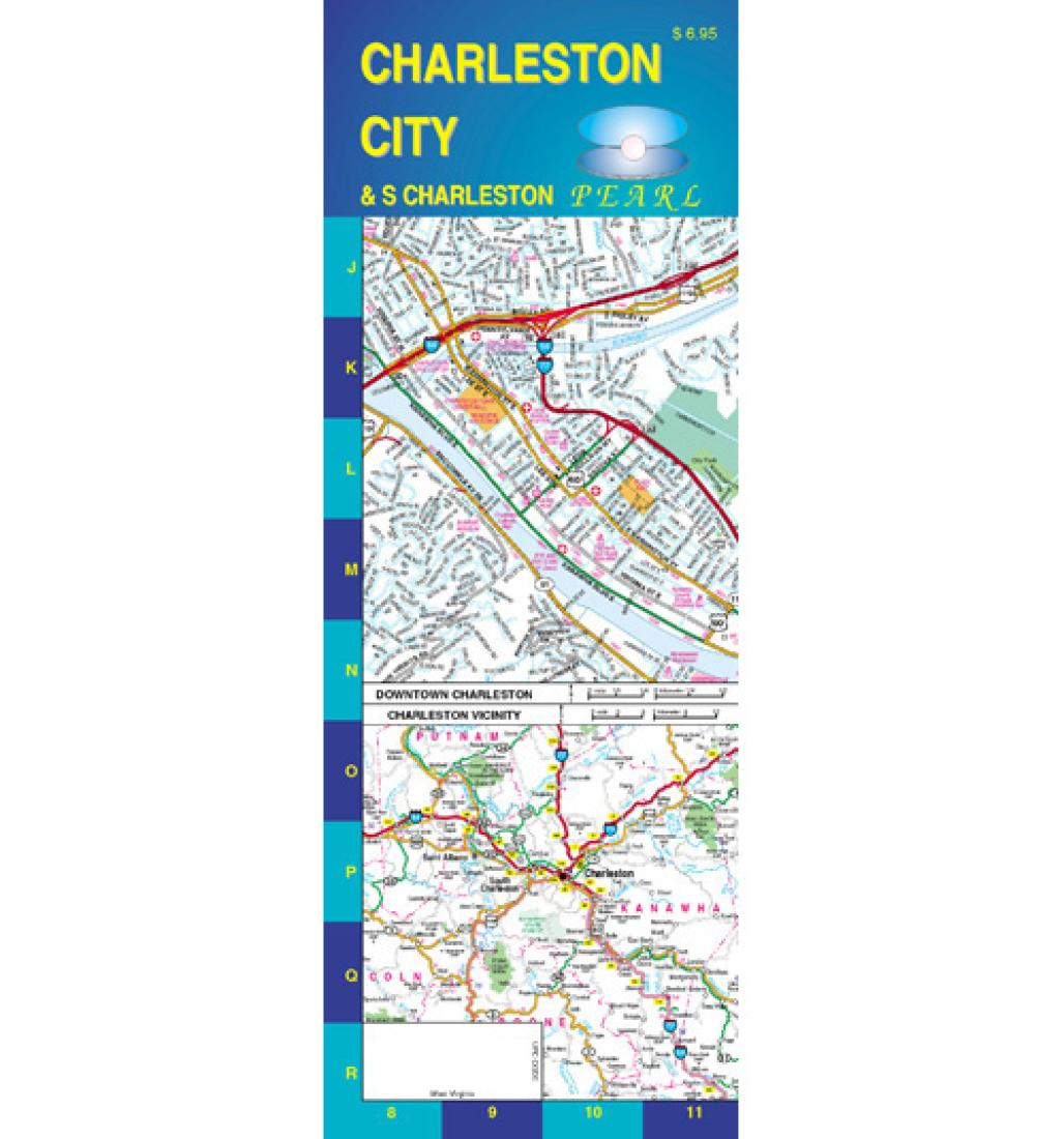 South Virginia Map.Charleston And South Charleston West Virginia Pearl Map Laminated