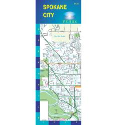 Spokane, Washington, Pearl Map, laminated by GM Johnson