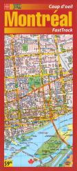 Montreal, Canada Downtown FastTrak, laminated by MapArt