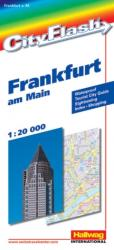 Frankfurt, Germany City Flash Map by Hallwag