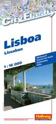 Lisbon, Portugal City Flash Map by Hallwag