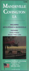 Mandeville and Covington, Louisiana by American Drafting & Maps