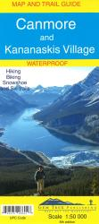 Canmore and Kananaskis Village, Alberta, Map and Guide, waterproof by Gem Trek