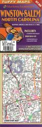 Winston-Salem, North Carolina Laminated Tuffy Map by Tuffy Maps