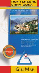 Montenegro Geographical Map by GiziMap