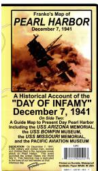 Pearl Harbor, Hawaii, Guide Map, 1941 and Present by Frankos Maps Ltd.