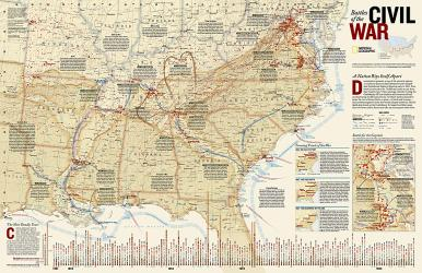 Battles of the Civil War, tubed by National Geographic Maps