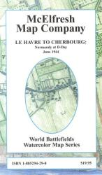 Le Havre to Cherbourg, Normandy at D-Day, 1944 by McElfresh Map Co.
