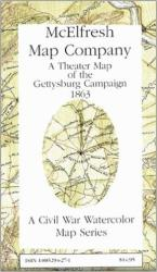 Gettysburg Battlefield Theater, Pennsylvania by McElfresh Map Co.