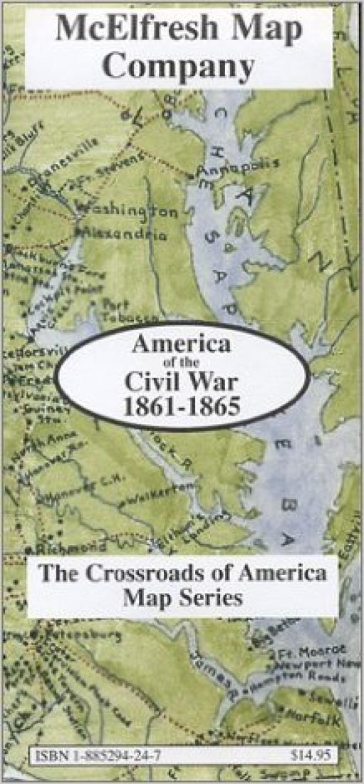 Map Of America In 1861.America Of The Civil War 1861 1865 By Mcelfresh Map Co