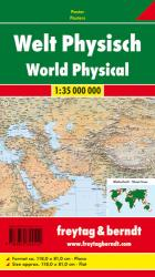 World, Physical by Freytag, Berndt und Artaria