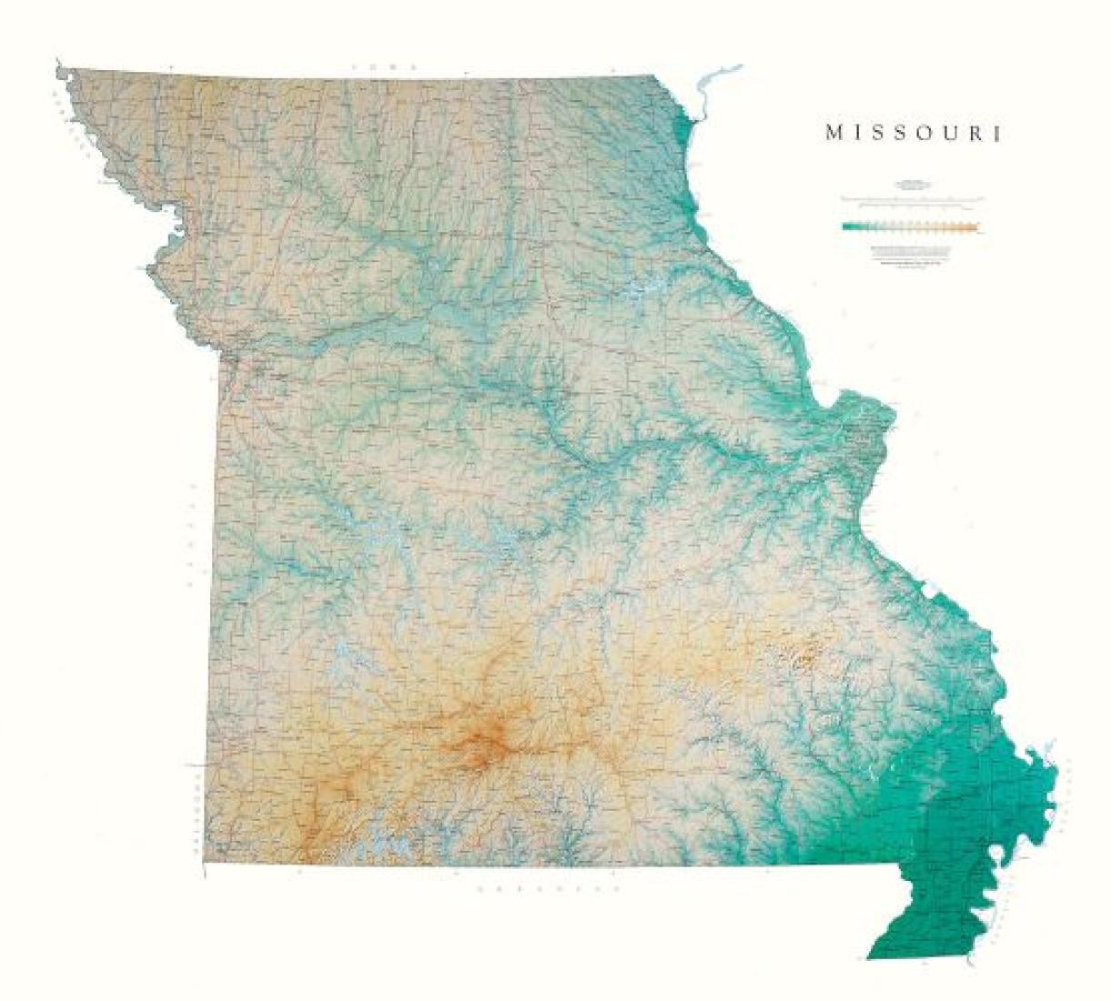 Missouri, Physical, Laminated Wall Map by Raven Maps on new mexico state physical map, kansas state world map, wa state physical map, state of kansas elevation map, kansas state rivers, pennsylvania state physical map, hutchinson kansas state map, kansas state population 2015, kansas state capital map, kansas state usa, state of kansas towns map, ohio state physical map, kansas state highway road map, kansas state climate, kansas state bird flower and tree, chicago state physical map, kansas state map with cities and towns, maine state physical map, topography of kansas state map, nebraska-kansas colorado map,